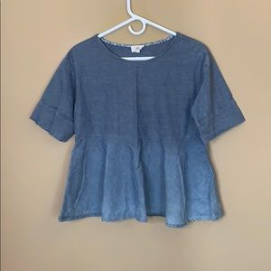 Adriano Goldschmied chambray top